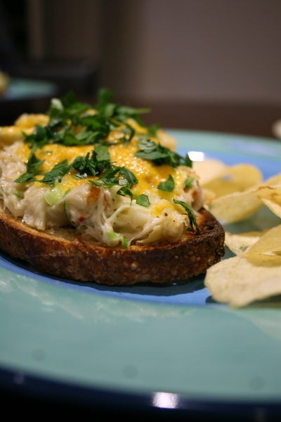 Dungeness Crab & Artichoke Melts